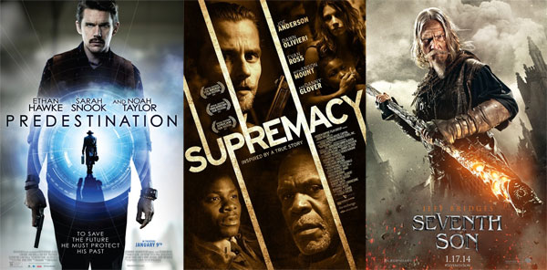 Supremacy, Predestination and Seventh Son movie posters