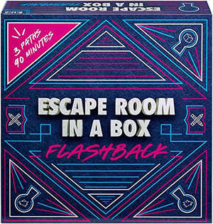LockQuest - Escape Room in a Box: Flashback escape the room board game in a box cover image