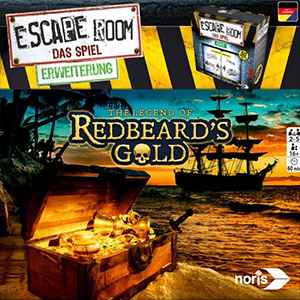 LockQuest - Escape Room: The Game - The Legend of Redbeard's Gold escape the room board game in a box cover image
