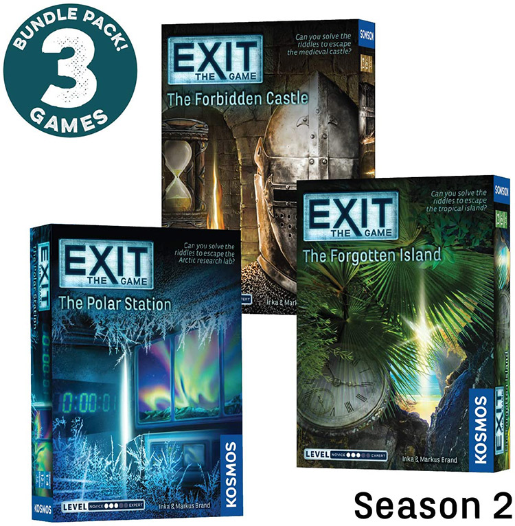 LockQuest Exit: the Game escape the room board game in a box cover image season 2 bundle