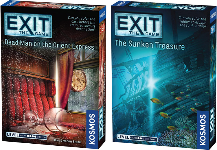 LockQuest Exit:: The Game 2-game bundle - Dead Man on the Orient Express and The Sunken Treasure escape the room board game in a box cover image