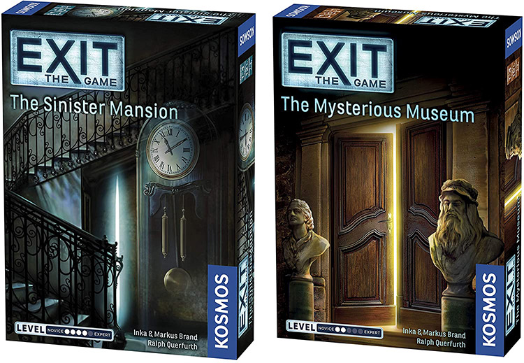 LockQuest Exit: The Game 2-game bundle escape the room board game in a box - The Sinister Mansion and The Mysterious Museum cover image