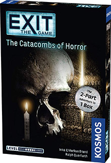 Exit: The Game - The Catacombs of Horror escape the room board game in a box cover image