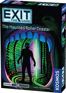 LockQuest Exit: The Game - The Haunted Roller Coaster escape the room board game in a box cover image