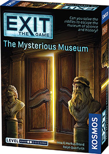 Exit: The Game - The Mysterious Museum escape the room board game in a box cover image