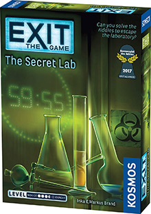 LockQuest Exit: The Game - The Secret Lab escape the room board game in a box cover image