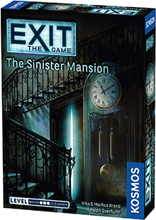 Exit: The Game - The Sinister Mansion escape the room board game in a box cover image