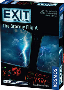 LockQuest Exit: The Game - The Stormy Flight escape the room board game in a box cover image