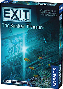 Exit: The Game - The Sunken Treasure escape the room board game in a box cover image