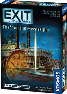 Exit: The Game - Theft on the Mississippi escape the room board game in a box cover image