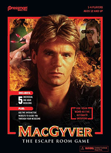 LockQuest MacGyver The Escape Game escape the room board game in a box cover image