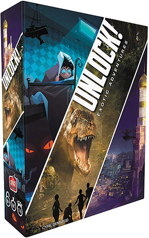 LockQuest Unlock! Exotic Adventures big box escape the room board game in a box cover image