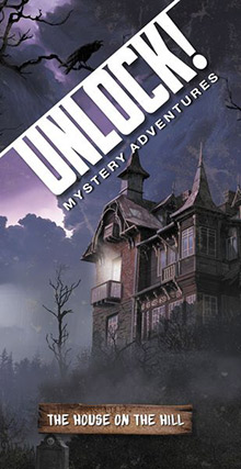 LockQuest Unlock! Mystery Adventures - The House on the Hill escape the room board game in a box cover image