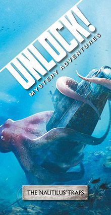 LockQuest Unlock! Mystery Adventures - The Nautilus' Traps escape the room board game in a box cover image