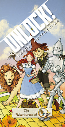 LockQuest Unlock! Secret Adventures - The Adventures of Oz escape the room board game in a box cover image