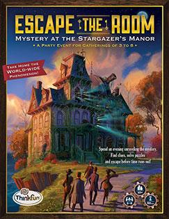 LockQuest Escape the Room: Mystery at the Stargazer's Manor board game in a box cover image