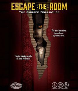 LockQuest Escape the Room: The Cursed Dollhouse escape room board game in a box cover image